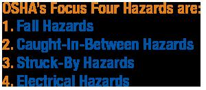 OSHA's Focus Four Hazards